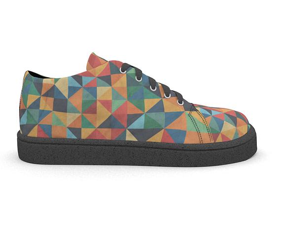 dobra tenis triangulos coloridos