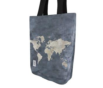 dobra bag mapa mundi azulzao