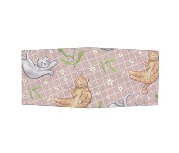 dobra - Nova Carteira Clássica - Gatos e Margaridas