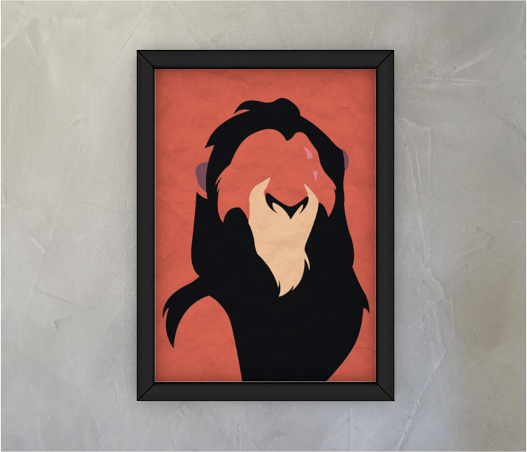 dobra - Quadro - Minimalist bad lion