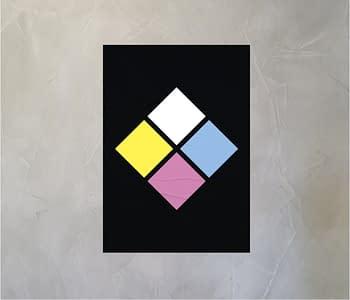 dobra - Lambe Autoadesivo - Autoridade Diamante - Fundo Preto