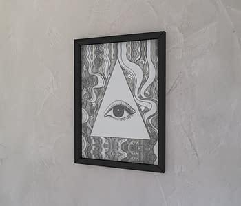 dobra - Quadro - O olho que tudo vê