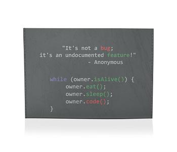 porta cartão programador viciado preta