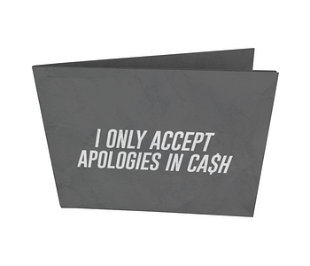 dobra nova classica i only accept apologies in cash