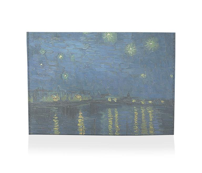 porta cartão noite estrelada sobre o ródano