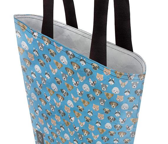 dobra bag cachorrinhos azul