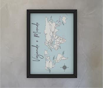 dobra - Quadro - Mapa Mundi Simples <3