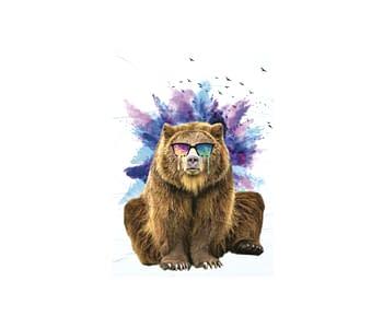 dobra - Lambe Autoadesivo - Urso doidão