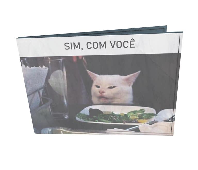 dobra - Carteira Old is Cool - meme gato na mesa
