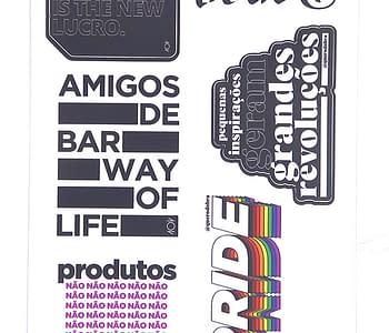 stickers v cartela amigos de bar