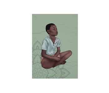 dobra - Lambe Autoadesivo - Miúdo Meditando