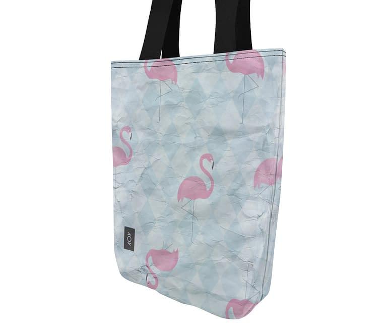 dobra bag flamingos geométricos