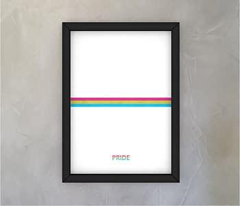 dobra - Quadro - Pansexual Pride - Minimalist White