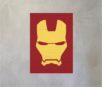 dobra - Lambe Autoadesivo - Minimalist Iron Man