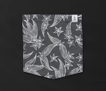 dobra - Bolso - Jardim de flores inventadas - fundo escuro