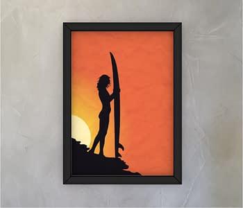 dobra - Quadro - Por do sol e as sombras do Surf