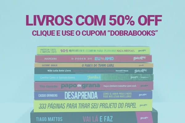 livros com 50% de desconto