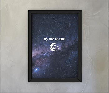 dobra - Quadro - Fly me to the moon
