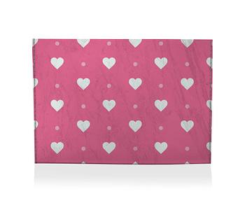 dobra porta cartao coracoezinhos rosa