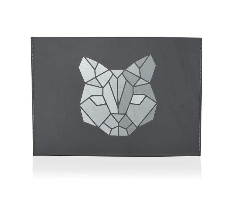 dobra porta cartao geometrico gato