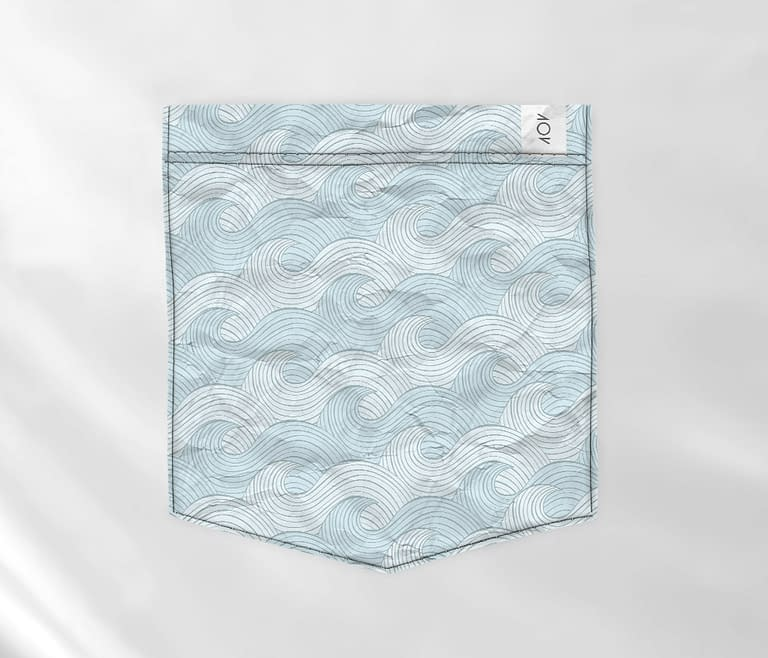 dobra bolso blue sea waves
